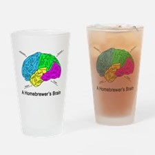 A Homebrewer's Brain Drinking Glass