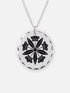 Gentian wheel Necklace
