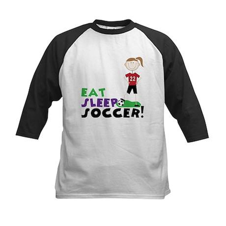 Eat Sleep Soccer Kids Baseball Jersey