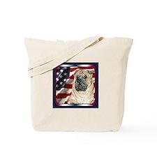 Chinese Shar Pei Dog Flag USA Tote Bag