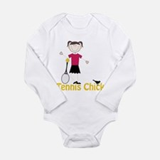 Tennis Chick Long Sleeve Infant Bodysuit