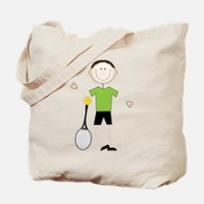 Male Tennis Player Tote Bag