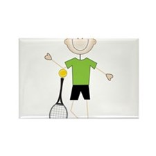 Male Tennis Player Rectangle Magnet
