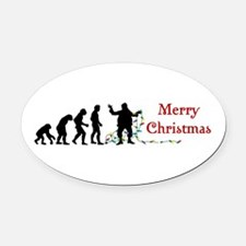 Evolve Santa Oval Car Magnet