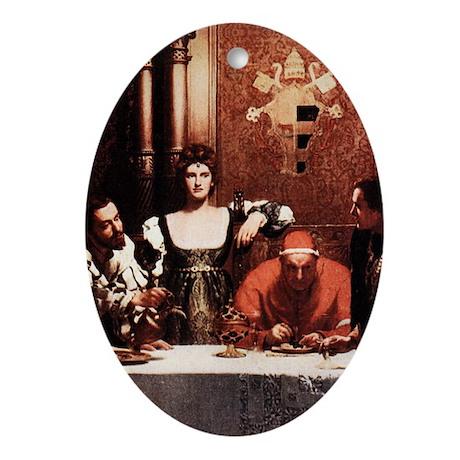 Borgia Family Painting Ornament (Oval)