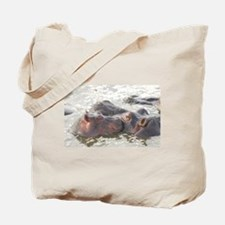 Hippos In The Wild Tote Bag