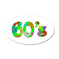 60's Flowers Wall Decal