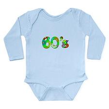 60's Flowers Long Sleeve Infant Bodysuit