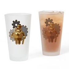Steampunk Android Drinking Glass