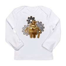 Steampunk Android (used-Look) Long Sleeve Infant T