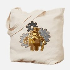 Steampunk Android (used-Look) Tote Bag