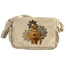 Steampunk Android (used-Look) Messenger Bag