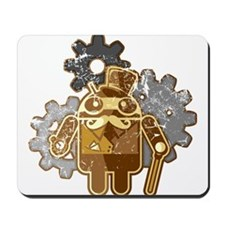 Steampunk Android (used-Look) Mousepad