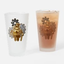 Steampunk Android (used-Look) Drinking Glass