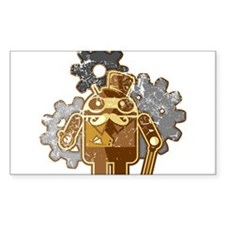 Steampunk Android (used-Look) Decal