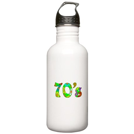 70's Flowers Stainless Water Bottle 1.0L