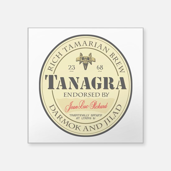 "tanagra.png Square Sticker 3"" x 3"""