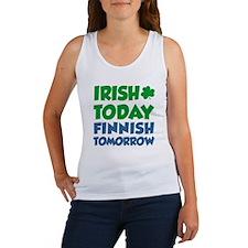 Irish Today Finnish Tomorrow Women's Tank Top