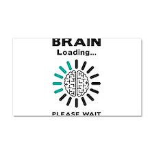 Brain loading Car Magnet 20 x 12