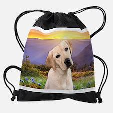 Labrador Meadow Drawstring Bag