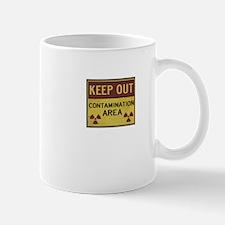 keep out contamination area funny tee Mug