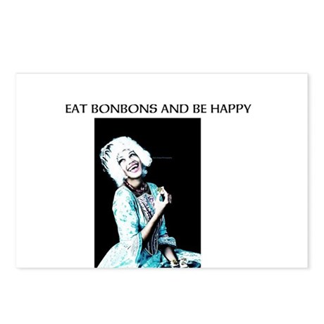 Eat BonBons and be Happy Postcards (Package of 8)