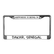Happiness is Dakar License Plate Frame