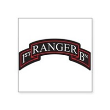 1st Ranger BN Scroll Rectangle Sticker