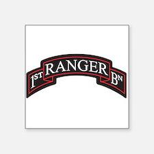 1st Ranger BN Scroll Rectangle Sticker