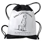 Vintage Labrador Drawstring Bag
