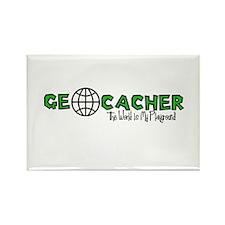 Geocacher...The World is My Playground Rectangle M