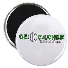 """Geocacher...The World is My Playground 2.25"""" Magne"""