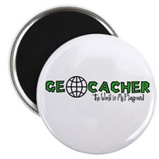 "Geocacher...The World is My Playground 2.25"" Magne"