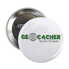 """Geocacher...The World is My Playground 2.25"""" Butto"""