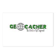 Geocacher...The World is My Playground Postcards (