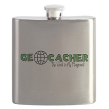 Geocacher...The World is My Playground Flask