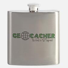 Geocacher...The World is My Playground Flask