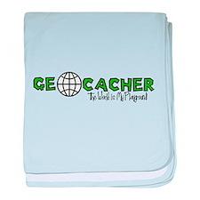 Geocacher...The World is My Playground baby blanke