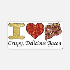 Crispy Delicious Bacon Aluminum License Plate