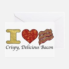 Crispy Delicious Bacon Greeting Card