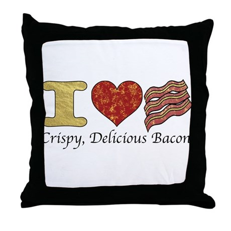 Crispy Delicious Bacon Throw Pillow