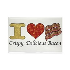 Crispy Delicious Bacon Rectangle Magnet