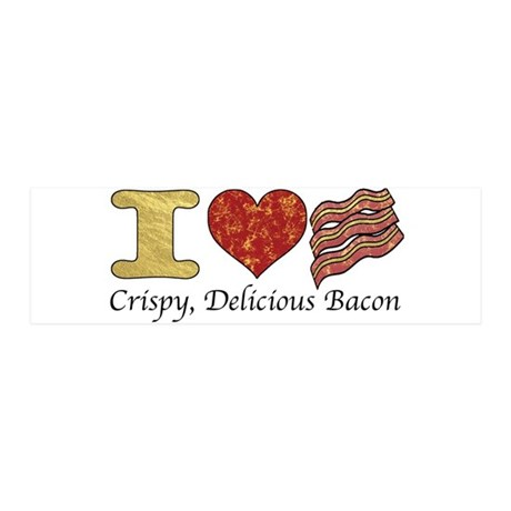 Crispy Delicious Bacon 36x11 Wall Decal