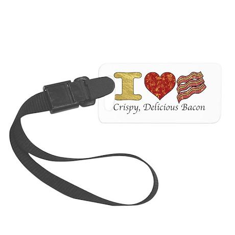 Crispy Delicious Bacon Small Luggage Tag