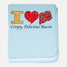 Crispy Delicious Bacon baby blanket