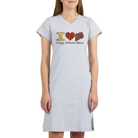 Crispy Delicious Bacon Women's Nightshirt