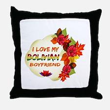 Bolivian Boyfriend designs Throw Pillow