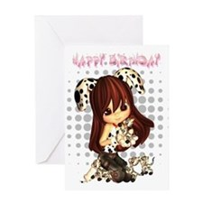 Cute Little Dress Up Girl Birthday Greeting Card