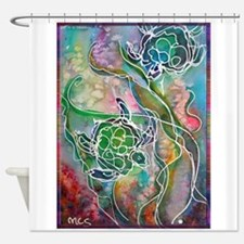 Turtles! Sea turtles! Wildlife art! Shower Curtain
