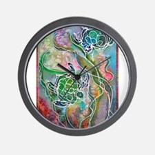 Turtles! Sea turtles! Wildlife art! Wall Clock